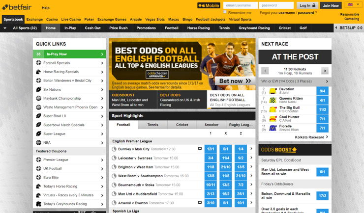 Betfair Review - Bet Exchange and Sportsbook